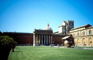 1996 Vaticano - cortile interno