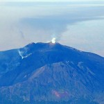 2008 Etna cratere visto di volo degli aeromobili