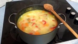 Supa de legume cu gris